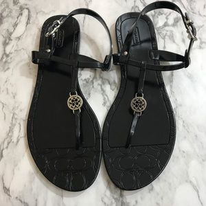 Coach Pansy jelly sandals